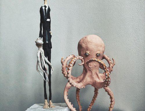 Herr Dr. Krakebusch mit großem Kraken